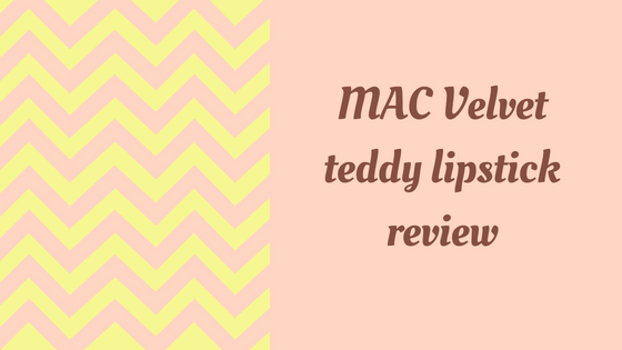 Mac Velvet teddy- nude matte lipstick review
