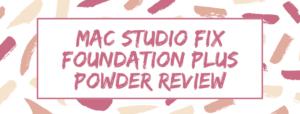 mac studio fix foundation plus powder