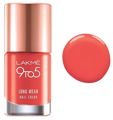 lakme 9 to 5 orange coat